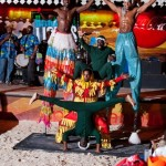 Barbados culture: stiltmen, green monkeys, shaggy bear!